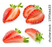 Strawberry Slices Isolated....