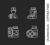 gynecology chalk icons set.... | Shutterstock .eps vector #1595667460