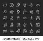 predmenstrual syndrome chalk...   Shutterstock .eps vector #1595667499
