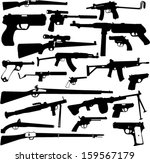 weapon collection   vector | Shutterstock .eps vector #159567179