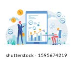 online business training or... | Shutterstock .eps vector #1595674219