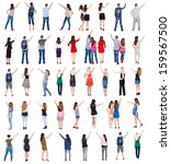 collection pointing people.... | Shutterstock . vector #159567500
