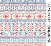 aztec american indian pattern...   Shutterstock .eps vector #1595676289