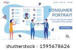 consumer portrait vector...