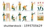 artist  designer  illustrator... | Shutterstock .eps vector #1595705629