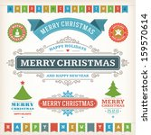 christmas decoration vector... | Shutterstock .eps vector #159570614