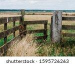 Open Wooden Gateway Gate Door...
