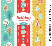 set of holiday ribbons | Shutterstock .eps vector #159575870
