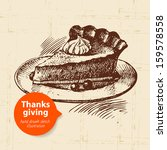 hand drawn vintage thanksgiving ... | Shutterstock .eps vector #159578558