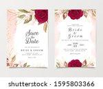 wedding invitation card... | Shutterstock .eps vector #1595803366