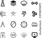 work vector icon set such as ... | Shutterstock .eps vector #1595855899