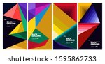 2020 cover and poster design... | Shutterstock .eps vector #1595862733