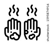 dirty and smelly hands icon... | Shutterstock .eps vector #1595874916