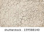 Cracked paint, vector background - stock vector