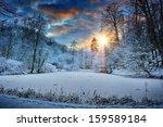 Spectacular Sunset Over Winter...