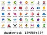 minimal abstract logo design... | Shutterstock .eps vector #1595896939