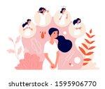 pms. female abdominal pain ... | Shutterstock .eps vector #1595906770