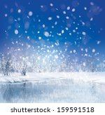 vector of winter scene with... | Shutterstock .eps vector #159591518