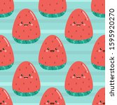 seamless pattern with cute... | Shutterstock .eps vector #1595920270