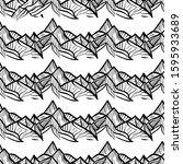 hand drawn seamless pattern... | Shutterstock .eps vector #1595933689