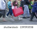 people shopping in the city in