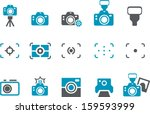 vector icons pack   blue series ... | Shutterstock .eps vector #159593999