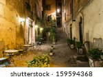 old courtyard in rome  italy | Shutterstock . vector #159594368