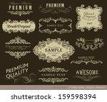 vector set of calligraphic... | Shutterstock .eps vector #159598394