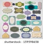 vector set vintage retro labels ... | Shutterstock .eps vector #159598658