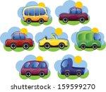 set of cartoon cars   vector    Shutterstock .eps vector #159599270