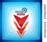 vector 3d glossy arrow sign... | Shutterstock .eps vector #159602009