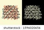 creative modern hand drawn font.... | Shutterstock .eps vector #1596020656