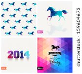 Set Of Four New Year Symbols....