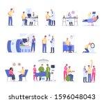 cancer diagnostics  treatment... | Shutterstock .eps vector #1596048043