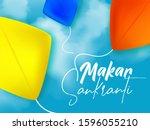 makar sankranti 2020 creative... | Shutterstock .eps vector #1596055210