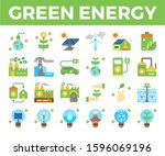 green energy and ecology line... | Shutterstock .eps vector #1596069196