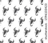 the scorpion seamless pattern... | Shutterstock .eps vector #1596103423