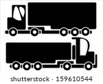 trucks car icons isolated on... | Shutterstock .eps vector #159610544