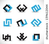 unusual icons set   isolated on ... | Shutterstock .eps vector #159612044