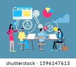 online support  internet... | Shutterstock . vector #1596147613