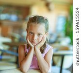 portrait of beautiful little...   Shutterstock . vector #159615524