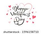 happy valentine s day... | Shutterstock .eps vector #1596158710