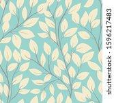 beautiful seamless background...   Shutterstock .eps vector #1596217483