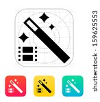 magic video icon. vector...