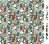 christmas seamless pattern with ... | Shutterstock .eps vector #159627464