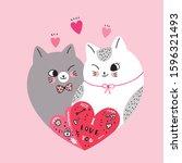 Cartoon Cute Valentines Day...
