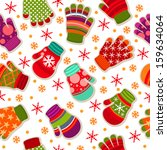 seamless winter pattern with... | Shutterstock .eps vector #159634064