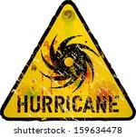 hurricane warning sign  heavy... | Shutterstock .eps vector #159634478