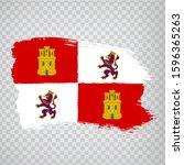 Flag Of Castile And Leon Brush...