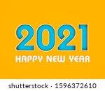 new year 2021 creative design...   Shutterstock . vector #1596372610